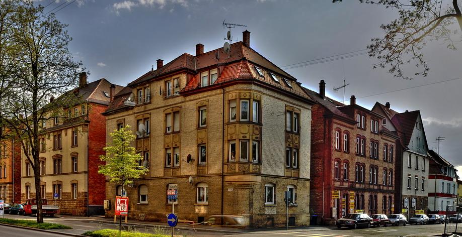 Heilbronn. Ziegelsteinewohnhaus  in der Oststrasse, 1908