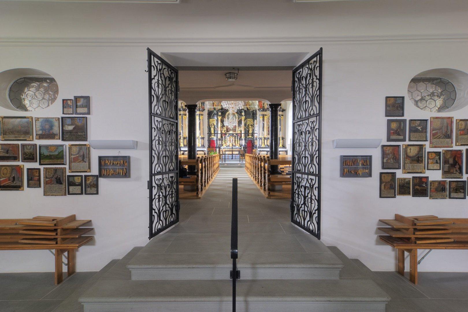 Heilig Kreuz Wallfahrtskirche in der Schweiz