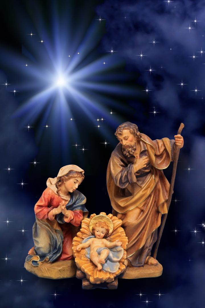 Heilige familie foto bild karten und kalender weihnachtskarten himmel bilder auf fotocommunity - Bilder weihnachtskarten ...
