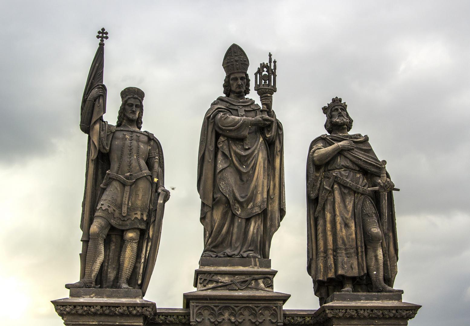 Heilige Wenzel, Norbert und Sigismund Karlsbrücke