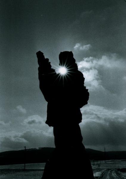 Heiligenstatue in Krumau / Kamp