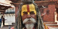 Heiliger Mann am Kathmandu Dubar Square - Sadhu 2