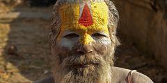 Heiliger Mann am Pashunipath Tempel in Kathmandu (3)