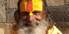 Heiliger Mann am Pashunipath Tempel in Kathmandu - Sadhu 1