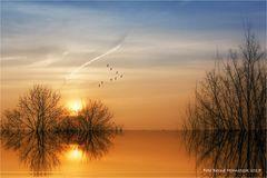 Heimat und Sonnenaufgang am Niederrhein .....