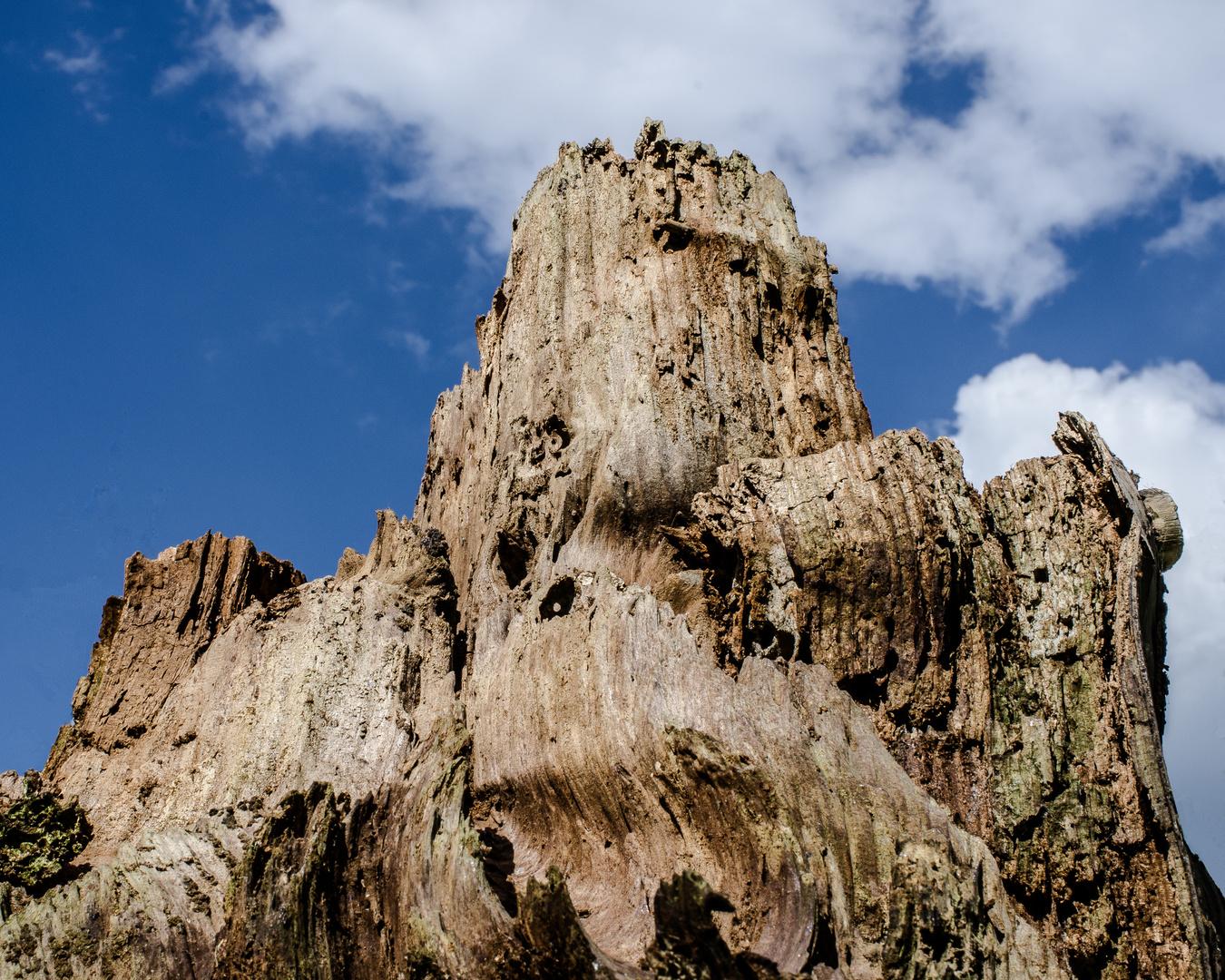 heimisches Holzgebirge