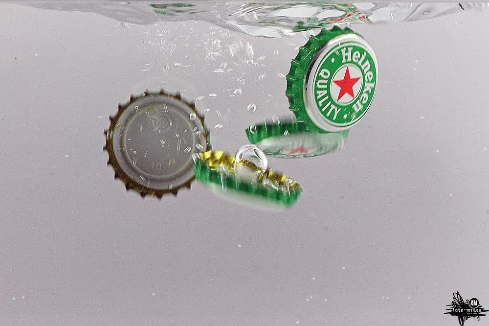Heineken unter Wasser