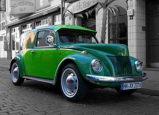 Heißer Wagen in Grün