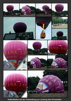 Heißluftballon bereit zur Landung über Kirchhellen