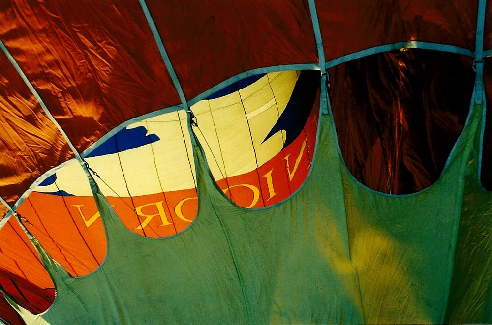 Heissluftballon in der Aufheizphase