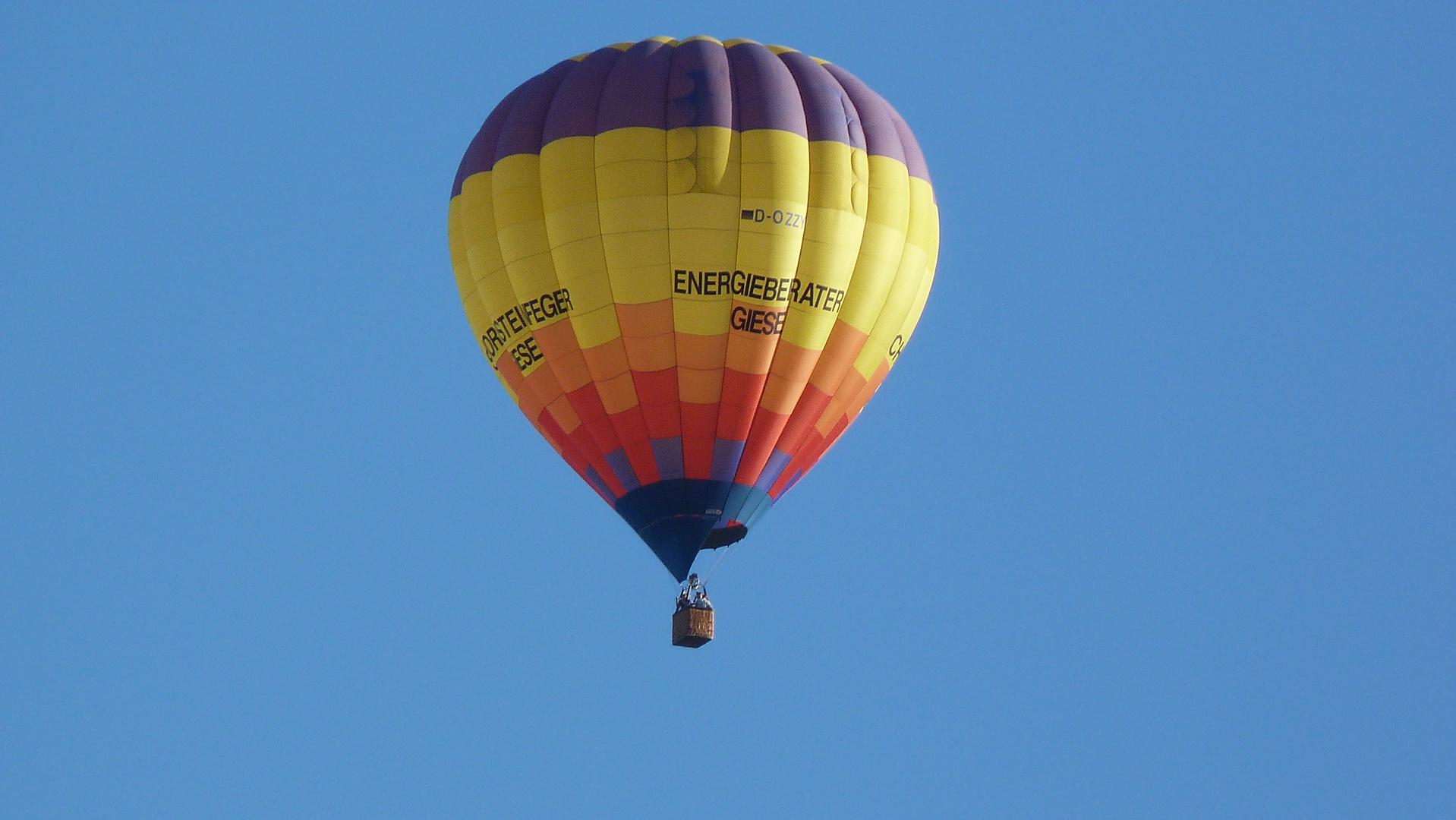 Heißluftballon über Nordhausen
