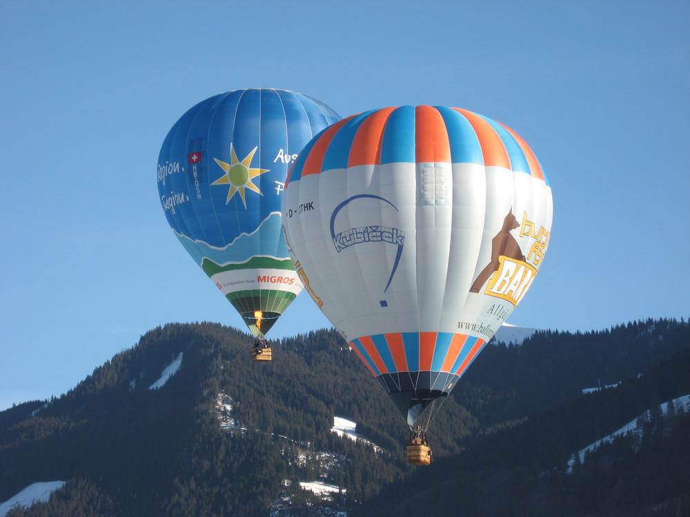 Heißluftballons im Allgäu