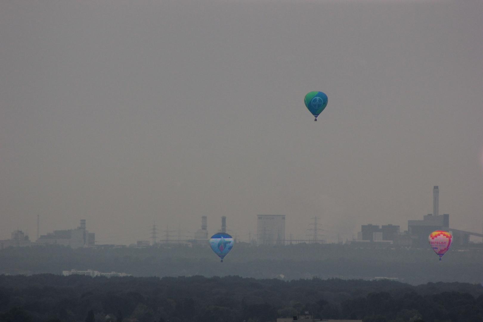 Heißluftballons über Köln