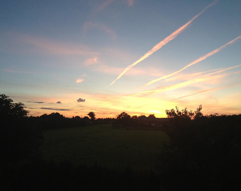 Heist Sonnenuntergang