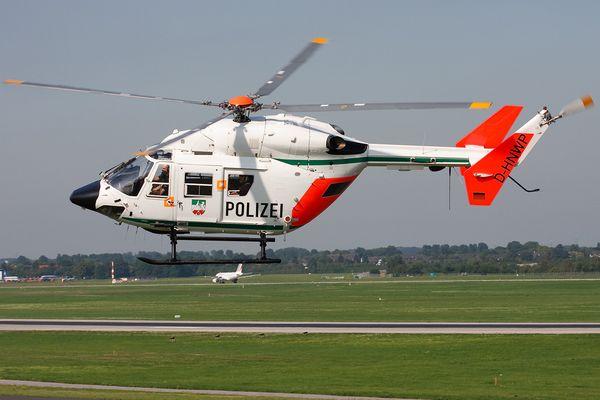 Helikopter der Polizei in Düsseldorf