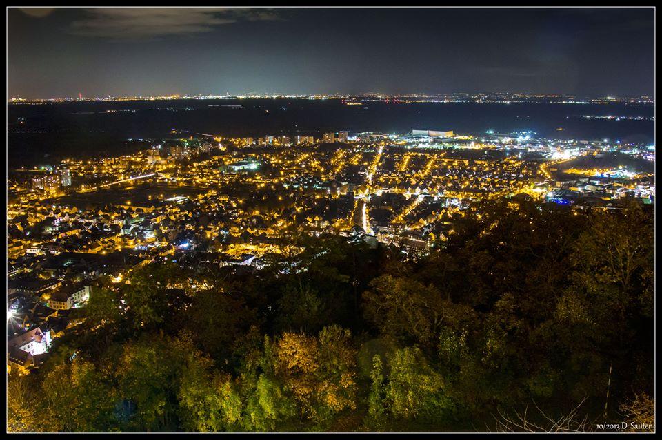 Heppenheim bei Nacht
