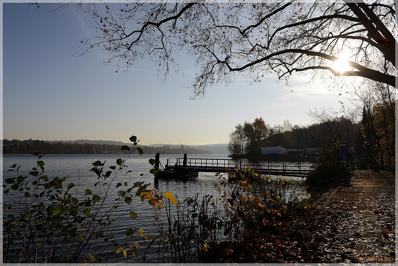 Herbst am Baldeneysee.