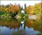 Herbst am Fontänenteich im Bergpark Wilhelmshöhe