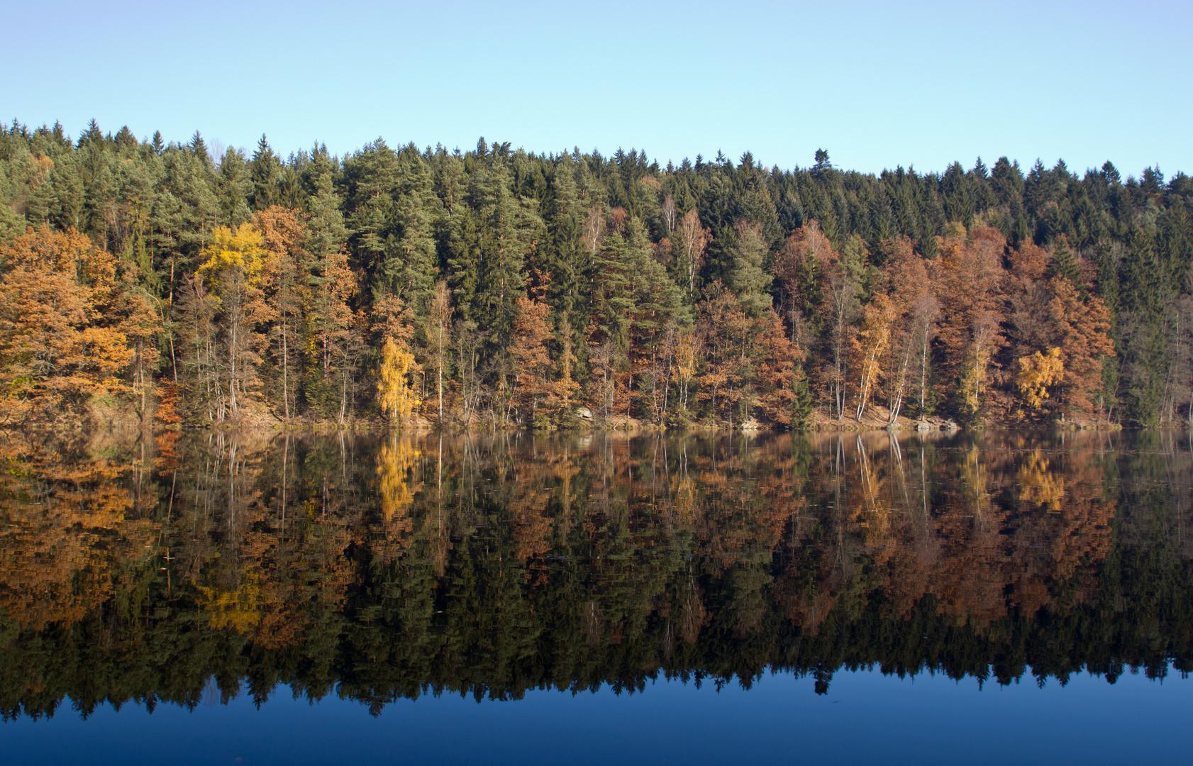 Herbst am Höllensteinsee (Bayerischer Wald)