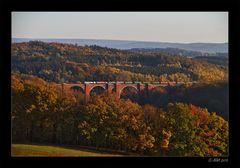 Herbst an der Elstertalbrücke