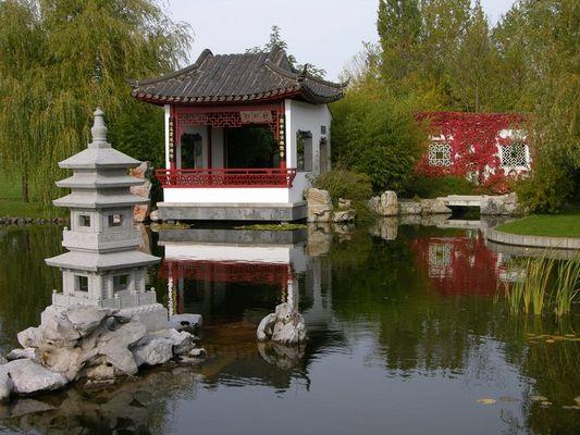 Herbst im chinesischen Garten in Berlin