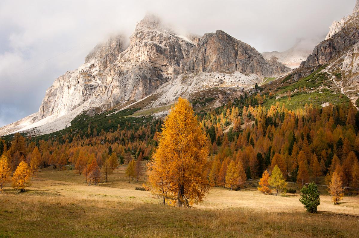 Herbst in Dolomiten