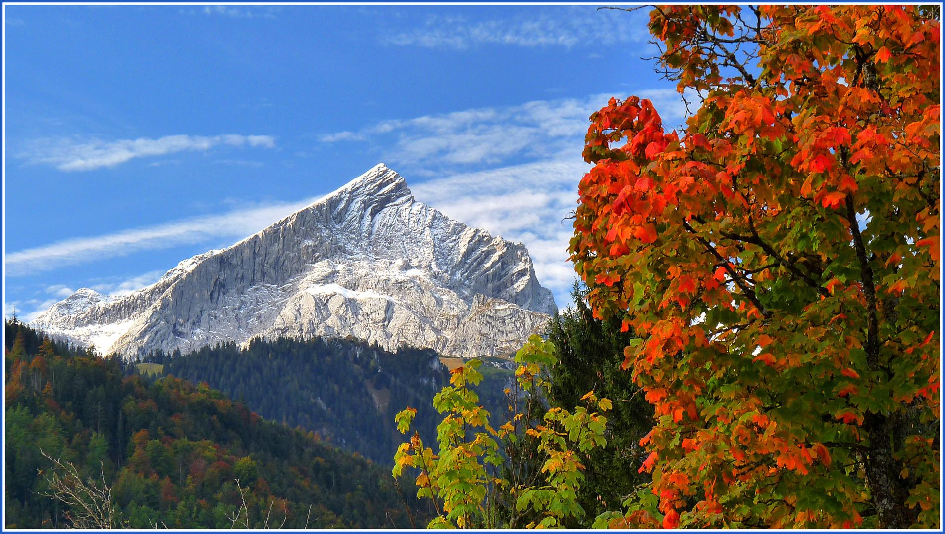 Herbst in Garmisch, Oktober 2010-Alpspitze