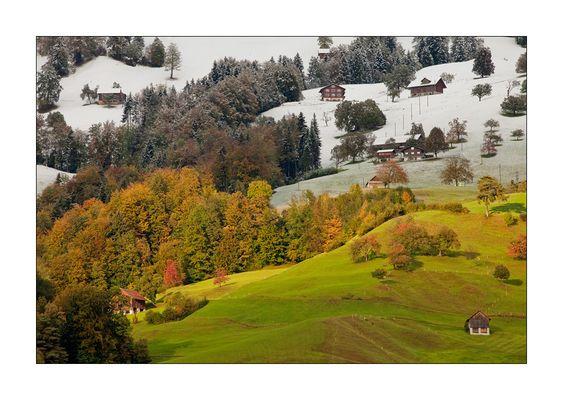 Herbst trifft Winter am 17.10.2009