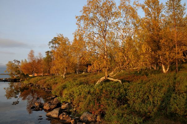 Herbstabend am Inarisee in Finnland 09/09 (2)