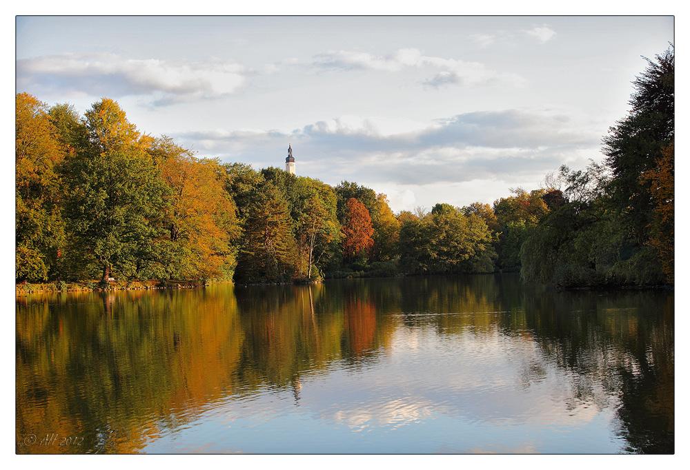 Herbstabend im Park