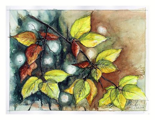 Herbstblätter-Studie...