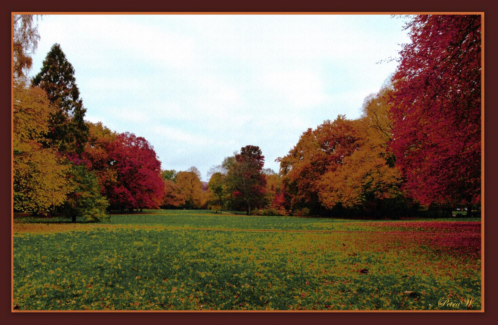 Herbstgemälde auf Leinwand