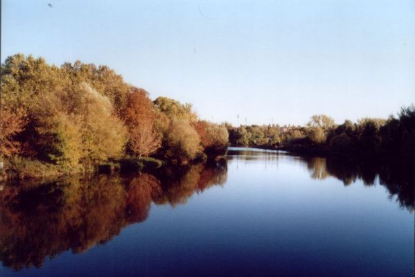 Herbstlandschaft an der Saale