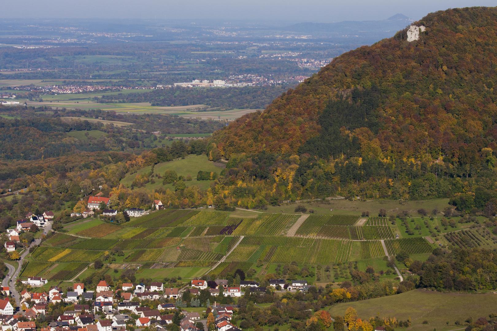 Herbstlandschaft Blick von der Teck