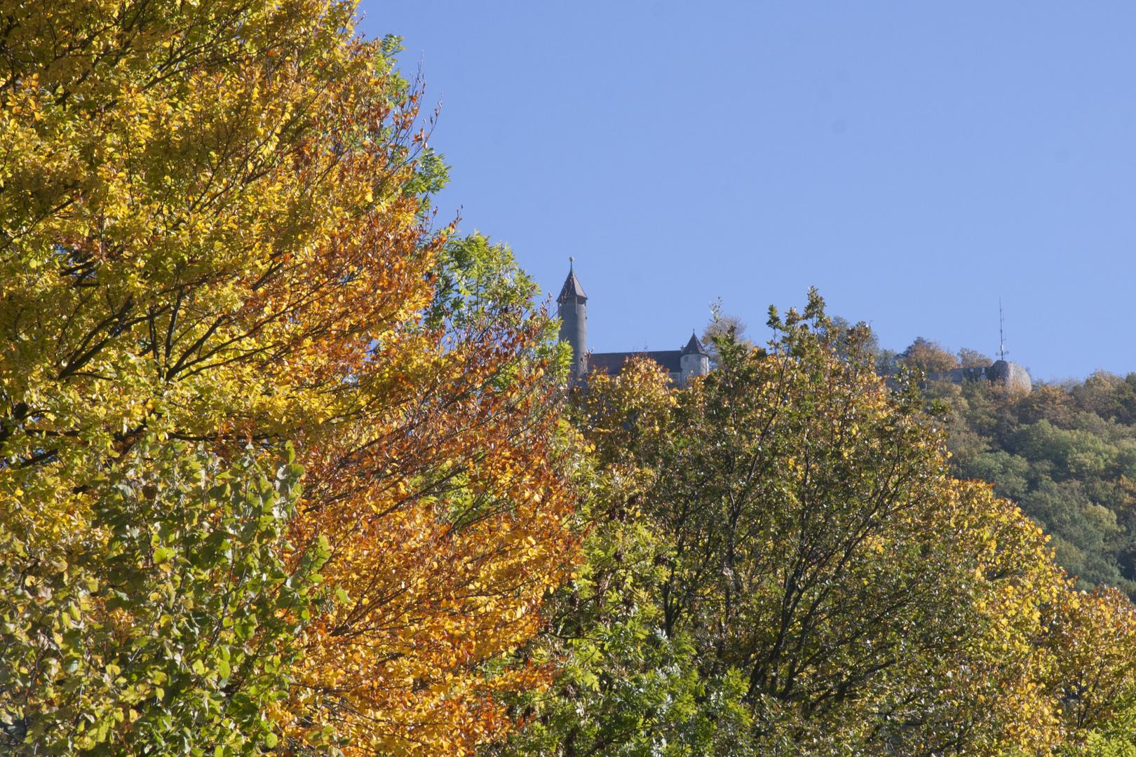 Herbstlandschaft Blick zur Teck