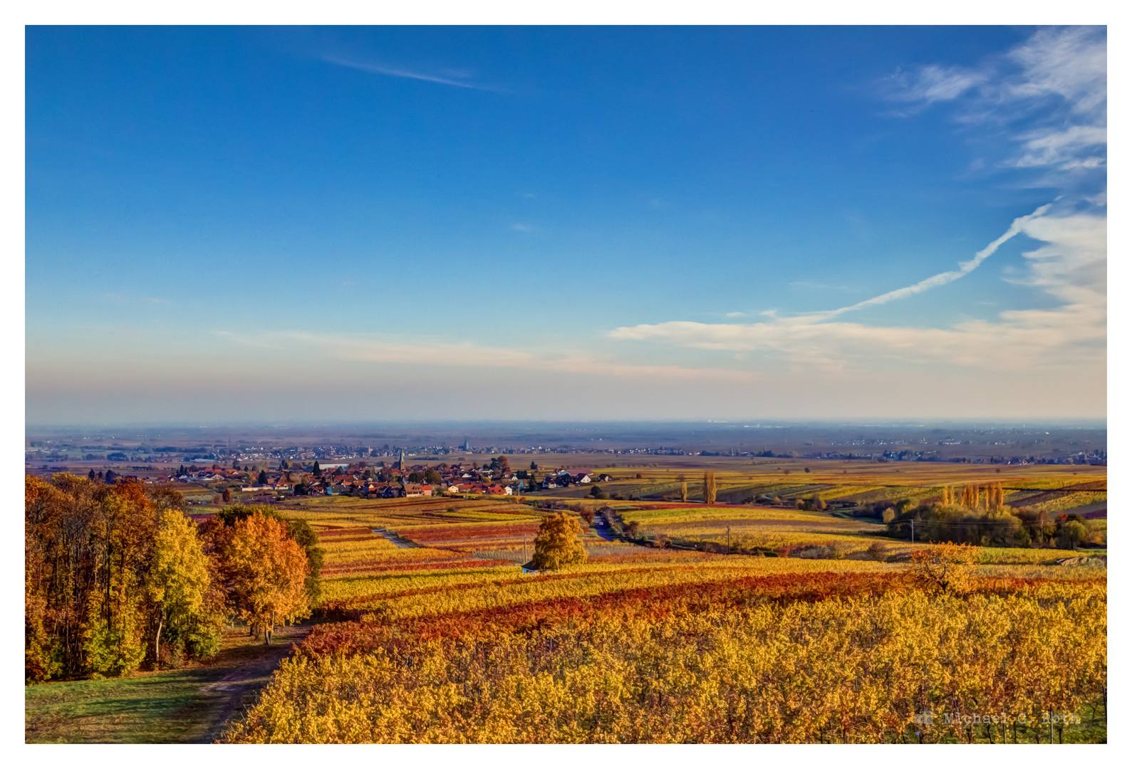 Herbstliche Aussicht von der Villa Ludwigshöhe