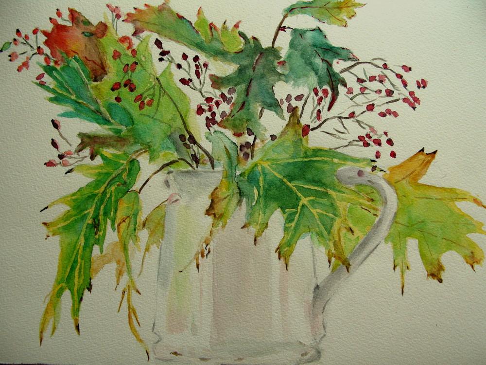 Herbstlicher Blätterstrauß