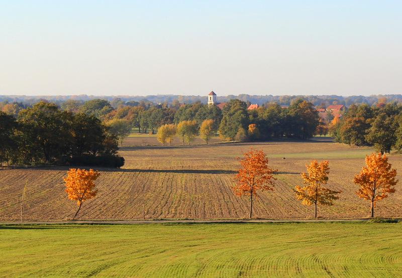 Herbstlicher Blick auf Baruth/ Sachsen