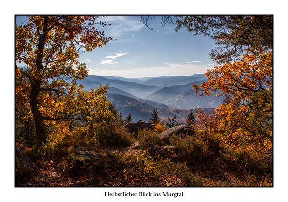 Herbstlicher Blick ins Murgtal