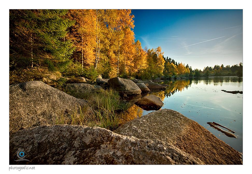 Herbstlicher Fichtelsee