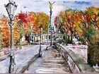 Herbstlicher Friedensengel München