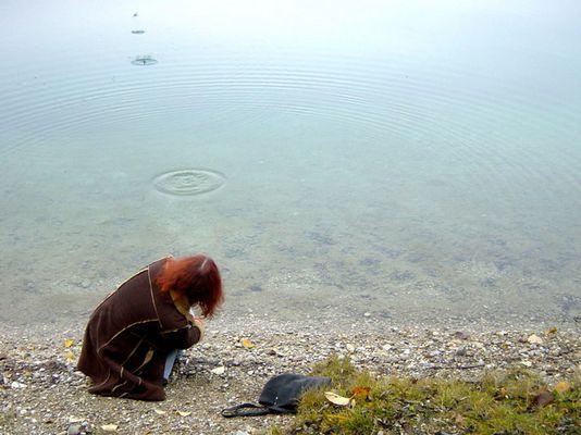 Herbstlicher Fund am See, weggeworfen ...!
