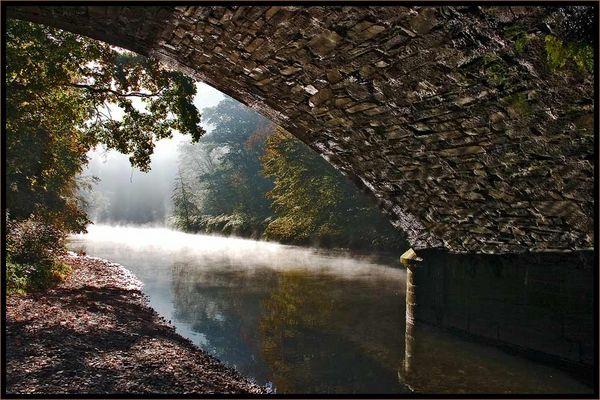 Herbstlicher Morgen an der Wupper