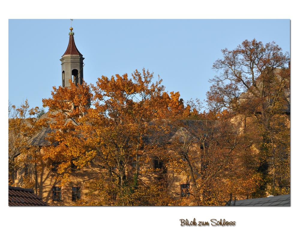 Herbstlicher Schloßblick