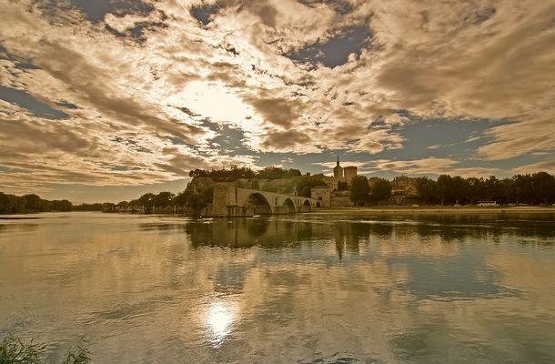 Herbstliches Avignon am 01.10.2005