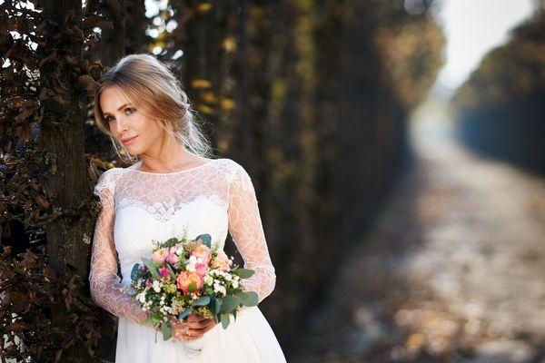 herbstliches Brautportrait