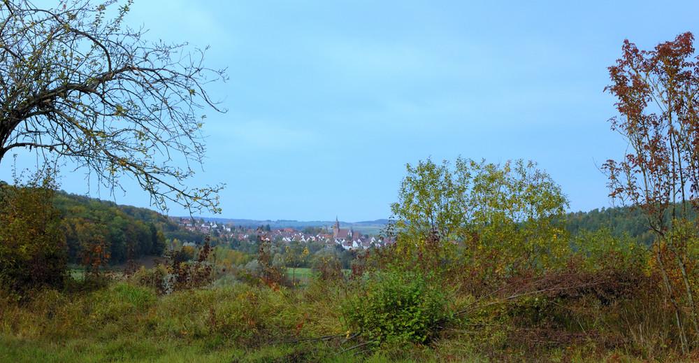 herbstliches Panorama im Steckental