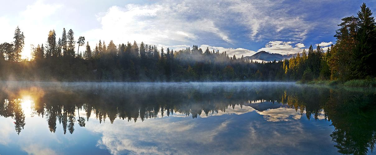Herbstmorgen am Crestasee