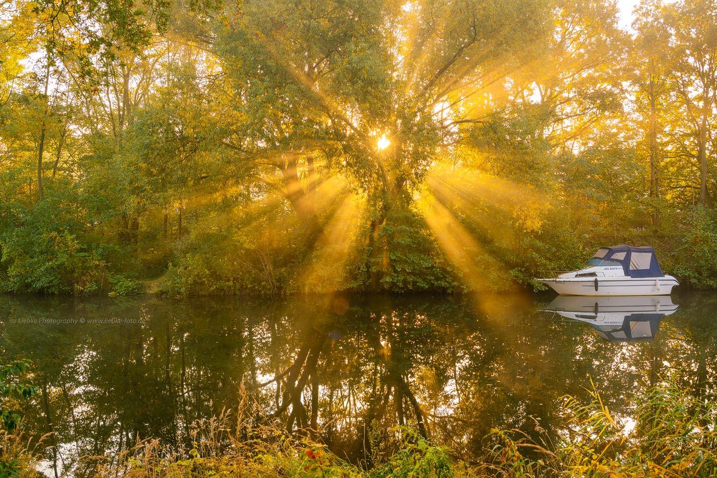 Herbstmorgen am Havelkanal Oranienburg