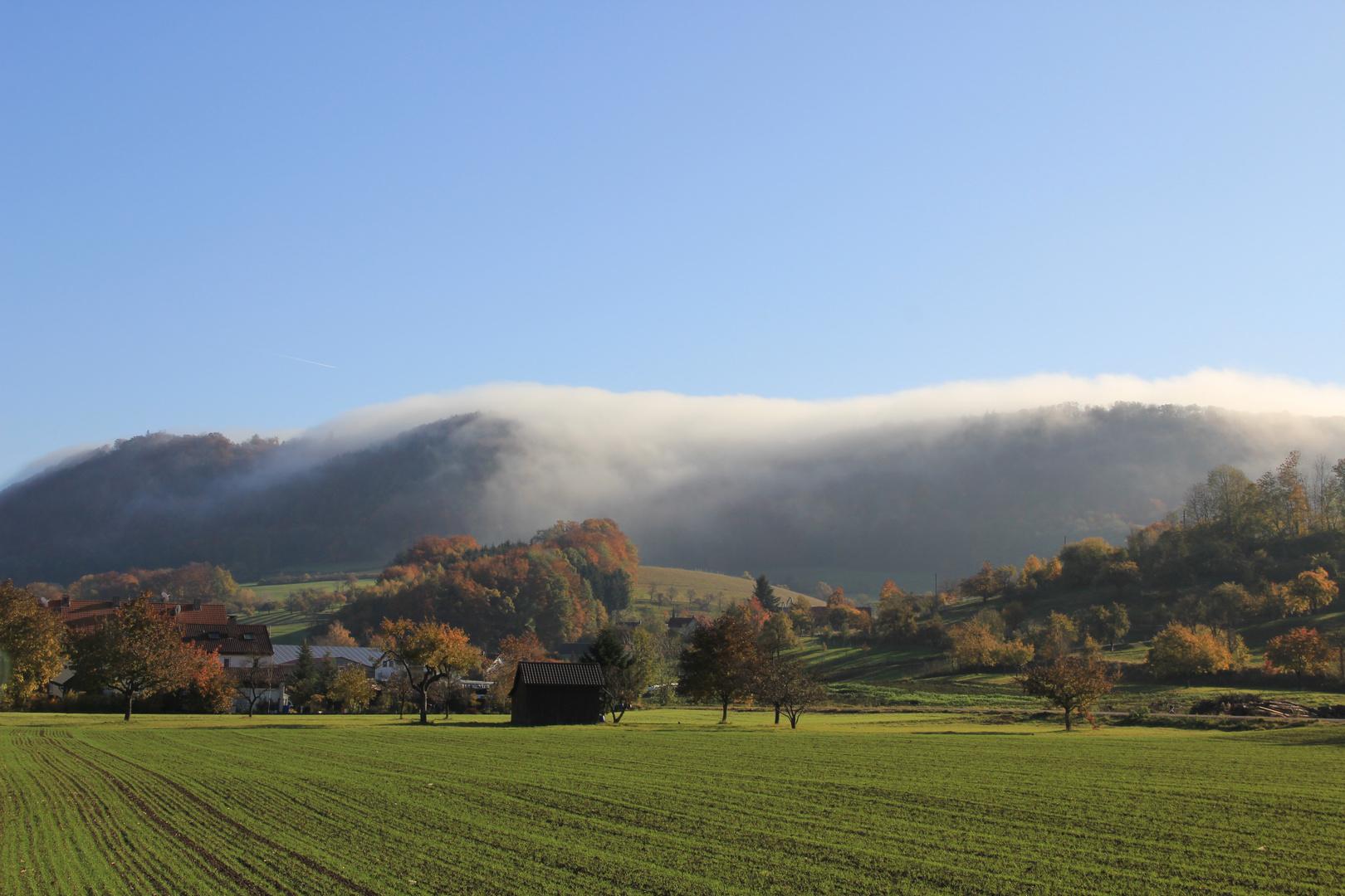 Herbstmorgen an der schwäbischen Alb